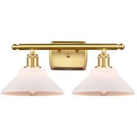 Innovations Lighting 516-2W-SG-G131-LED Orwell LED 18 inch Satin Gold Bath Vanity Light Wall Light Ballston
