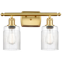 Innovations Lighting 516-2W-SG-G342-LED Hadley LED 16 inch Satin Gold Bath Vanity Light Wall Light Ballston