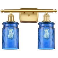 Innovations Lighting 516-2W-SG-G352-BL Candor 2 Light 16 inch Satin Gold Bath Vanity Light Wall Light Ballston