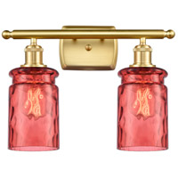 Innovations Lighting 516-2W-SG-G352-RD Candor 2 Light 16 inch Satin Gold Bath Vanity Light Wall Light Ballston