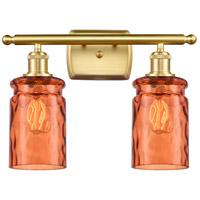 Innovations Lighting 516-2W-SG-G352-TUR Candor 2 Light 16 inch Satin Gold Bath Vanity Light Wall Light Ballston