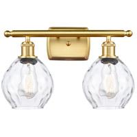 Innovations Lighting 516-2W-SG-G362-LED Small Waverly LED 16 inch Satin Gold Bath Vanity Light Wall Light Ballston