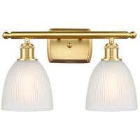 Innovations Lighting 516-2W-SG-G381 Castile 2 Light 16 inch Satin Gold Bath Vanity Light Wall Light Ballston