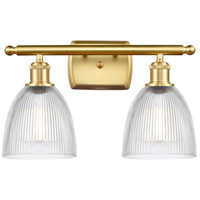 Innovations Lighting 516-2W-SG-G382 Castile 2 Light 16 inch Satin Gold Bath Vanity Light Wall Light Ballston
