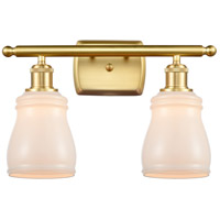 Innovations Lighting 516-2W-SG-G391-LED Ellery LED 16 inch Satin Gold Bath Vanity Light Wall Light Ballston