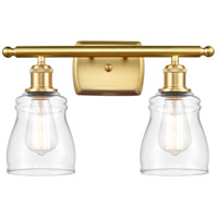Innovations Lighting 516-2W-SG-G392-LED Ellery LED 16 inch Satin Gold Bath Vanity Light Wall Light Ballston
