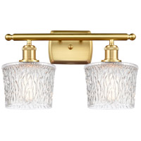 Innovations Lighting 516-2W-SG-G402 Niagra 2 Light 16 inch Satin Gold Bath Vanity Light Wall Light Ballston