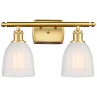 Innovations Lighting 516-2W-SG-G441 Brookfield 2 Light 16 inch Satin Gold Bath Vanity Light Wall Light Ballston