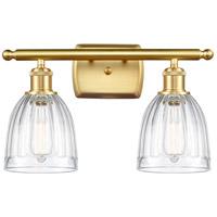 Innovations Lighting 516-2W-SG-G442-LED Brookfield LED 16 inch Satin Gold Bath Vanity Light Wall Light Ballston