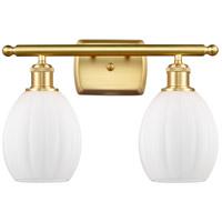 Innovations Lighting 516-2W-SG-G81 Eaton 2 Light 16 inch Satin Gold Bath Vanity Light Wall Light Ballston