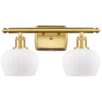 Satin Gold Fenton Bathroom Vanity Lights