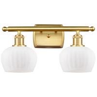 Innovations Lighting 516-2W-SG-G91 Fenton 2 Light 16 inch Satin Gold Bath Vanity Light Wall Light Ballston