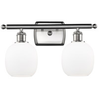 Innovations Lighting 516-2W-SN-G101 Belfast 2 Light 16 inch Satin Nickel Bath Vanity Light Wall Light, Ballston