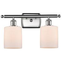 Innovations Lighting 516-2W-SN-G111 Cobbleskill 2 Light 16 inch Satin Nickel Bath Vanity Light Wall Light, Ballston