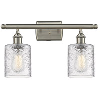 Cobbleskill LED 16 inch Brushed Satin Nickel Bathroom Fixture Wall Light