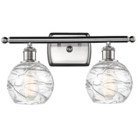 Innovations Lighting 516-2W-SN-G1213-6-LED Small Deco Swirl LED 16 inch Satin Nickel Bath Vanity Light Wall Light Ballston