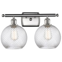 Innovations Lighting 516-2W-SN-G1214-8 Twisted Swirl 2 Light 16 inch Satin Nickel Bath Vanity Light Wall Light Ballston