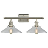Innovations Lighting 516-2W-SN-G132 Disc 2 Light 16 inch Brushed Satin Nickel Vanity Light Wall Light