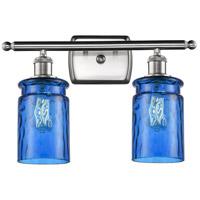 Innovations Lighting 516-2W-SN-G352-BL Candor 2 Light 16 inch Satin Nickel Bath Vanity Light Wall Light Ballston