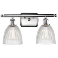Innovations Lighting 516-2W-SN-G382 Castile 2 Light 16 inch Satin Nickel Bath Vanity Light Wall Light Ballston