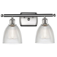 Innovations Lighting 516-2W-SN-G382-LED Castile LED 16 inch Satin Nickel Bath Vanity Light Wall Light, Ballston