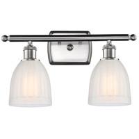 Innovations Lighting 516-2W-SN-G441-LED Brookfield LED 16 inch Satin Nickel Bath Vanity Light Wall Light, Ballston