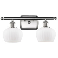 Innovations Lighting 516-2W-SN-G91 Fenton 2 Light 16 inch Satin Nickel Bath Vanity Light Wall Light, Ballston
