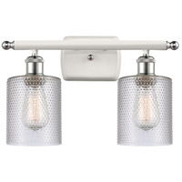 Innovations Lighting 516-2W-WPC-G112-LED Cobbleskill LED 16 inch White And Polished Chrome Bath Vanity Light Wall Light Ballston