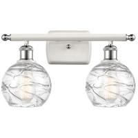 Innovations Lighting 516-2W-WPC-G1213-6-LED Small Deco Swirl LED 16 inch White And Polished Chrome Bath Vanity Light Wall Light Ballston