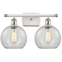 Innovations Lighting 516-2W-WPC-G122 Athens 2 Light 16 inch White And Polished Chrome Bath Vanity Light Wall Light Ballston