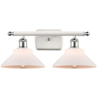 Innovations Lighting 516-2W-WPC-G131 Orwell 2 Light 18 inch White And Polished Chrome Bath Vanity Light Wall Light, Ballston