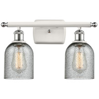 Innovations Lighting 516-2W-WPC-G257-LED Caledonia LED 16 inch White And Polished Chrome Bath Vanity Light Wall Light Ballston