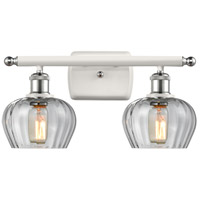 Innovations Lighting 516-2W-WPC-G92 Fenton 2 Light 16 inch White And Polished Chrome Bath Vanity Light Wall Light Ballston