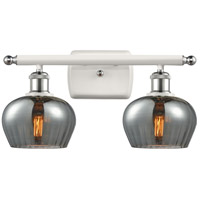 Innovations Lighting 516-2W-WPC-G93 Fenton 2 Light 16 inch White And Polished Chrome Bath Vanity Light Wall Light Ballston