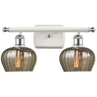 Innovations Lighting 516-2W-WPC-G96 Fenton 2 Light 16 inch White And Polished Chrome Bath Vanity Light Wall Light, Ballston