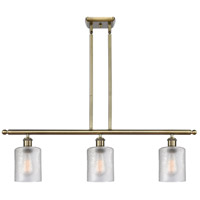 Innovations Lighting 516-3I-AB-G112 Cobbleskill 3 Light 36 inch Antique Brass Island Light Ceiling Light, Ballston