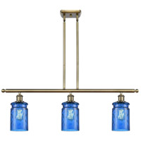 Antique Brass Glass Candor Island Lights