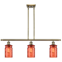 Antique Brass Steel Candor Island Lights
