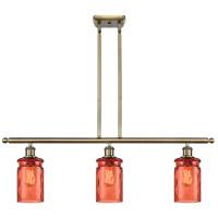 Innovations Lighting 516-3I-AB-G352-COR Candor 3 Light 36 inch Antique Brass Island Light Ceiling Light, Ballston