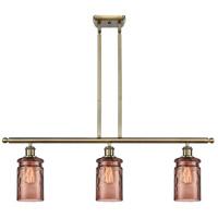Innovations Lighting 516-3I-AB-G352-TOF Candor 3 Light 36 inch Antique Brass Island Light Ceiling Light, Ballston
