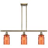 Innovations Lighting 516-3I-AB-G352-TUR Candor 3 Light 36 inch Antique Brass Island Light Ceiling Light, Ballston