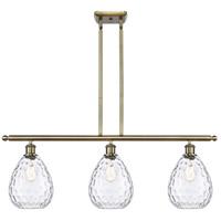 Innovations Lighting 516-3I-AB-G372 Large Waverly 3 Light 36 inch Antique Brass Island Light Ceiling Light Ballston