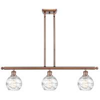 Innovations Lighting 516-3I-AC-G1213-6-LED Small Deco Swirl LED 36 inch Antique Copper Island Light Ceiling Light Ballston