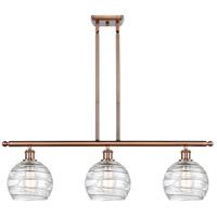 Innovations Lighting 516-3I-AC-G1213-8-LED Deco Swirl LED 36 inch Antique Copper Island Light Ceiling Light Ballston