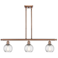 Innovations Lighting 516-3I-AC-G1214-6-LED Small Twisted Swirl LED 36 inch Antique Copper Island Light Ceiling Light Ballston