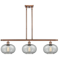 Innovations Lighting 516-3I-AC-G247 Gorham 3 Light 36 inch Antique Copper Island Light Ceiling Light Ballston
