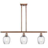 Innovations Lighting 516-3I-AC-G292-LED Salina LED 36 inch Antique Copper Island Light Ceiling Light, Ballston
