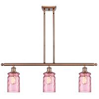 Innovations Lighting 516-3I-AC-G352-LIL Candor 3 Light 36 inch Antique Copper Island Light Ceiling Light Ballston