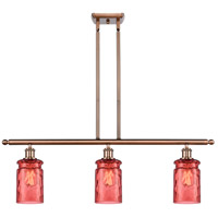 Innovations Lighting 516-3I-AC-G352-RD-LED Candor LED 36 inch Antique Copper Island Light Ceiling Light Ballston