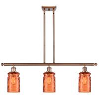 Innovations Lighting 516-3I-AC-G352-TUR Candor 3 Light 36 inch Antique Copper Island Light Ceiling Light Ballston